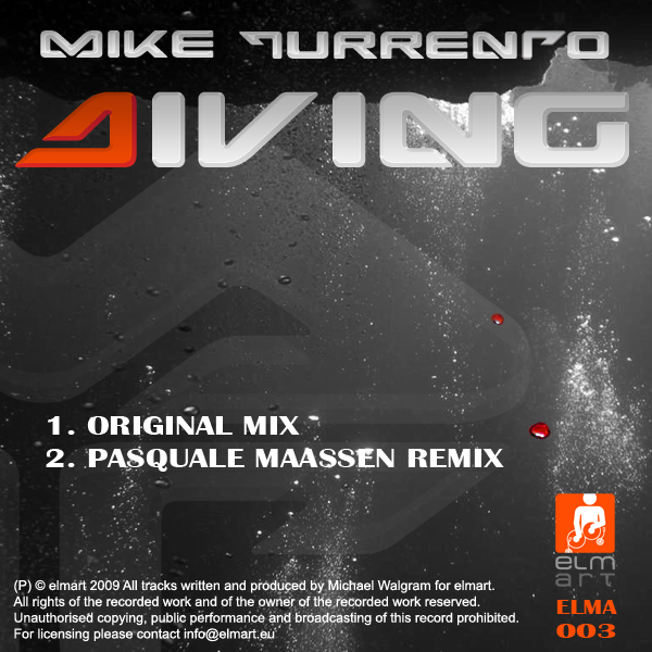 ELMA003 Cover Mike Turrento - Diving