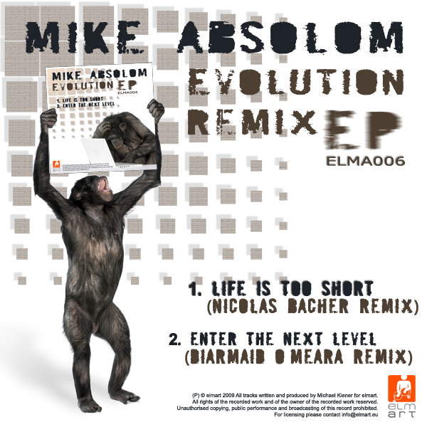 ELMA006 Cover Mike Absolom - Evolution Remix EP