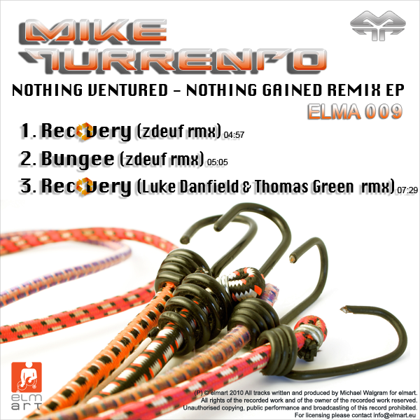 ELMA009 Cover Mike Turrento - Nothing Ventured - Nothing Gained Remix EP