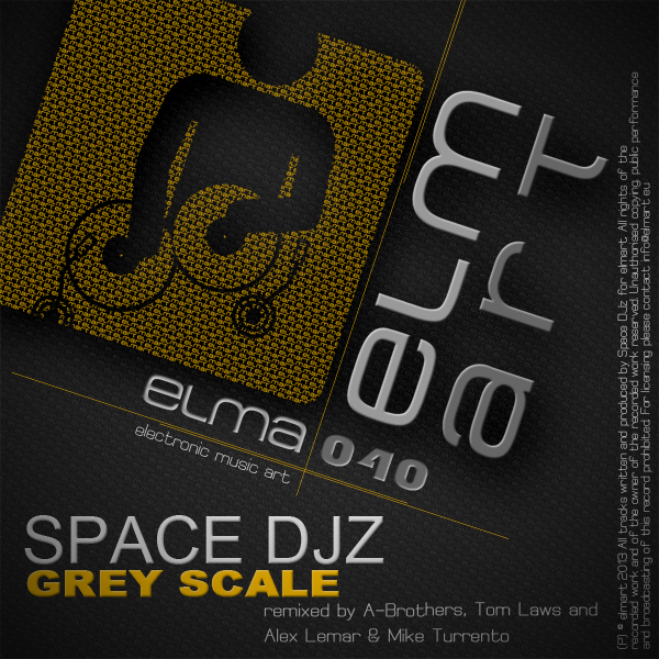 ELMA040 Cover Space DJz - Grey Scale